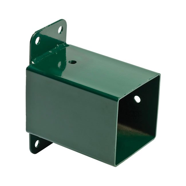 KBT Garden Wall Mounted Swing Corner In Green Powder Coated Steel Including Fixings Holes For Square Timbers