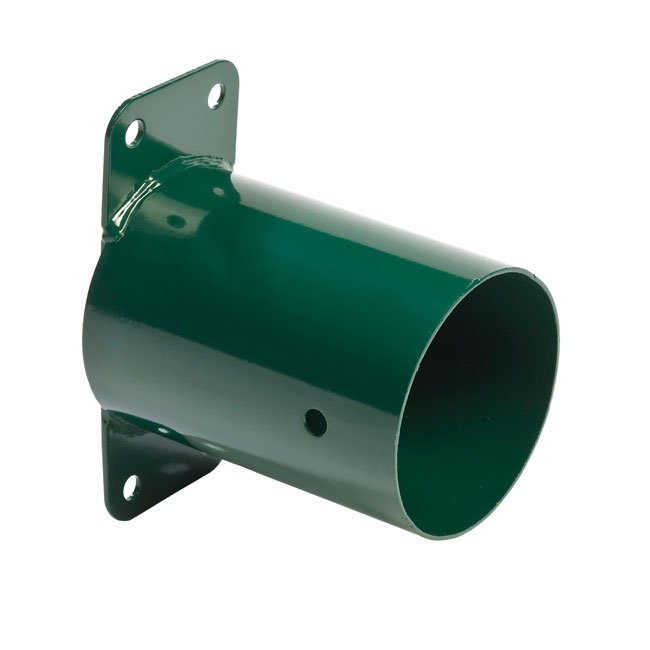 KBT Garden Wall Mounted Swing Corner In Green Powder Coated Steel Including Fixings Holes For Round Timbers