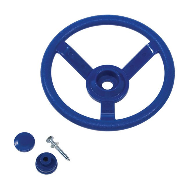 Round Blue Steering Wheel for Children's Garden Playgrounds With Fixing Screw