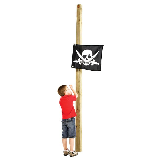 Printed Imaginative Play Flag With Hoist And Fixings Suitable For Mounting On A Wooden Post
