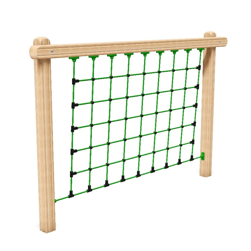 Net Climb Outdoor Fitness Station In Laminated Safalog With Exercise Instruction Sign