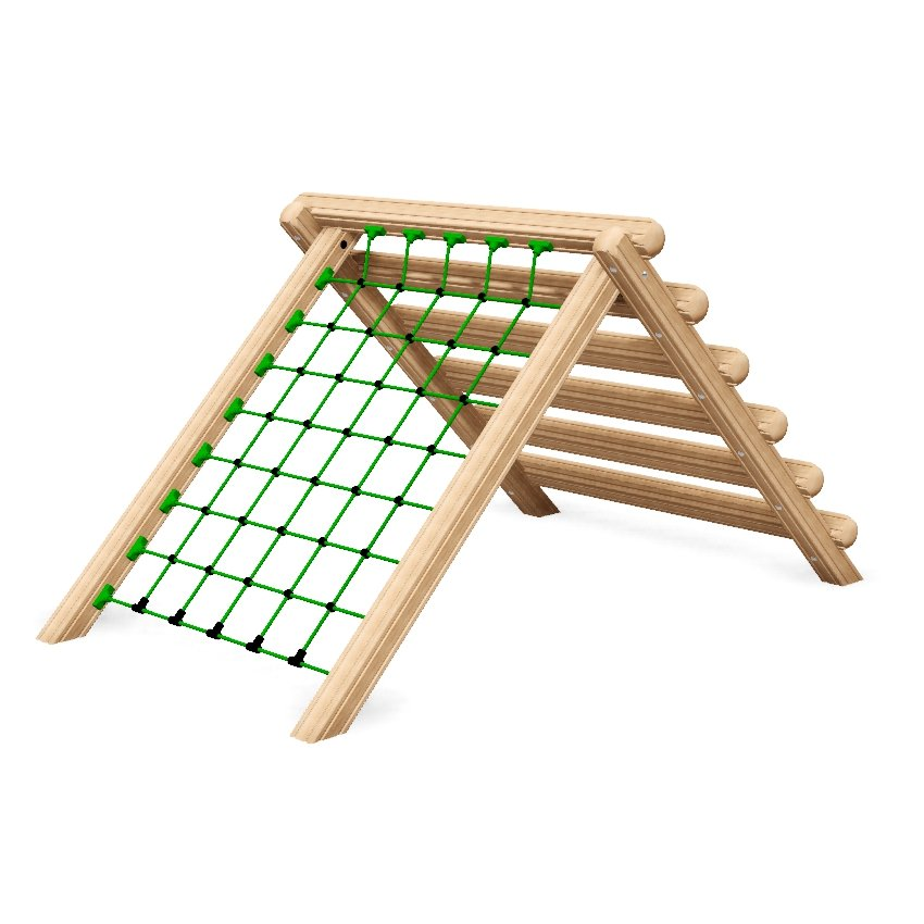 Ladder Net Climb Outdoor Fitness Station In Laminated Safalog With Exercise Instruction Sign