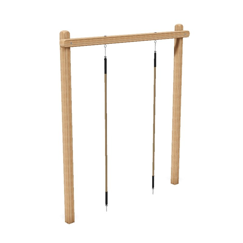 Dual Rope Climb Outdoor Fitness Station In Laminated Safalog With Exercise Instruction Sign