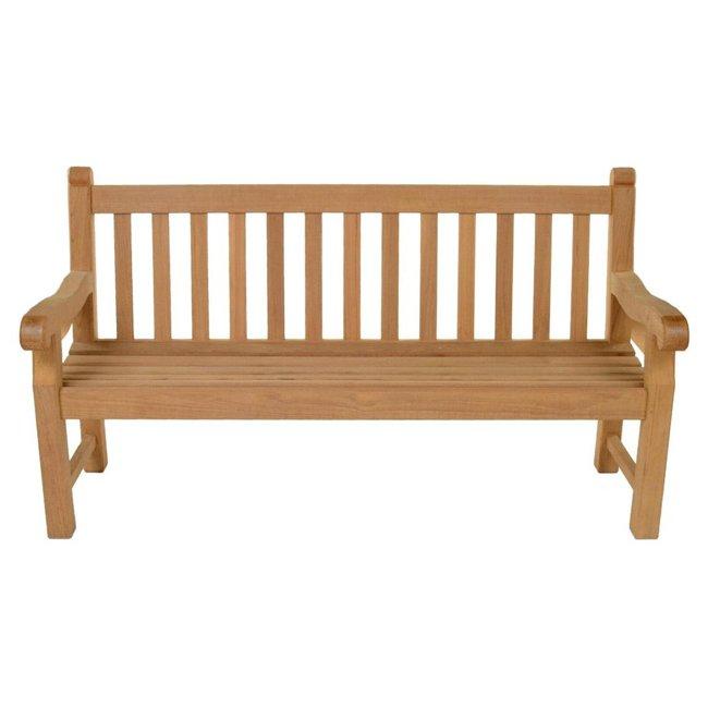 1.200m Adult Hardwood Park Memorial Surface Mounted Bench - Oxford