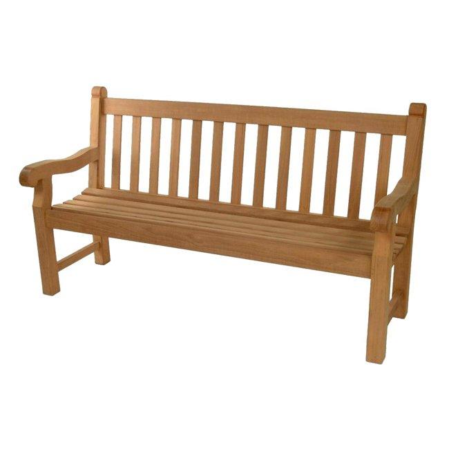 1.800m Adult Hardwood Park Memorial Surface Mounted Bench - Oxford
