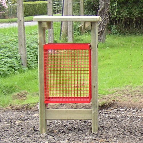 York Open Basket Natural Pressure Treated Wooden Litter Bin For Public Areas And Parks