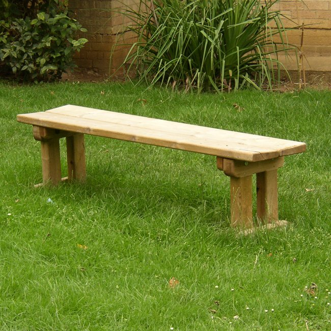 Natural Wooden Park Seat Manufactured From Hand Selected Machined And Pressure Treated Softwood