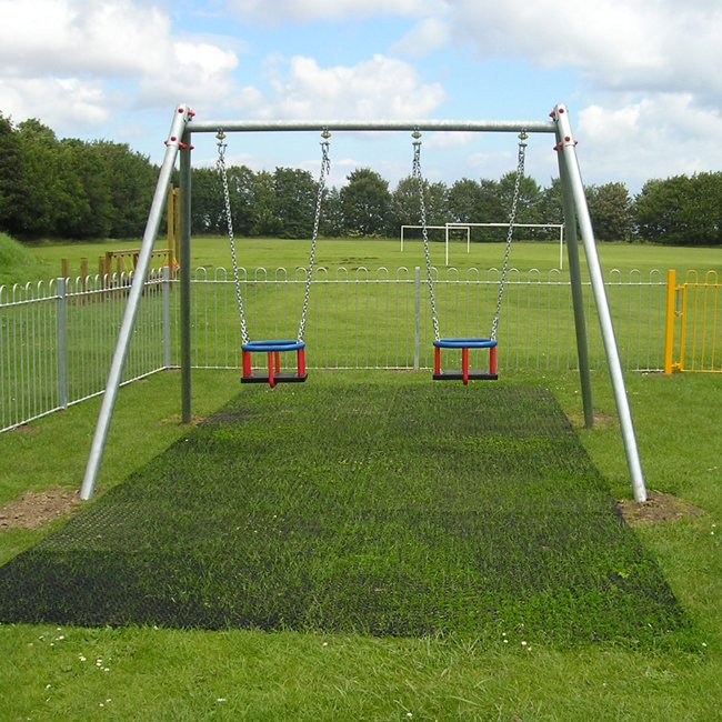 Safagrass 1.5m x 1.0m Rubber Grass Mats Playground Safety Surfacing Tested To EN1177