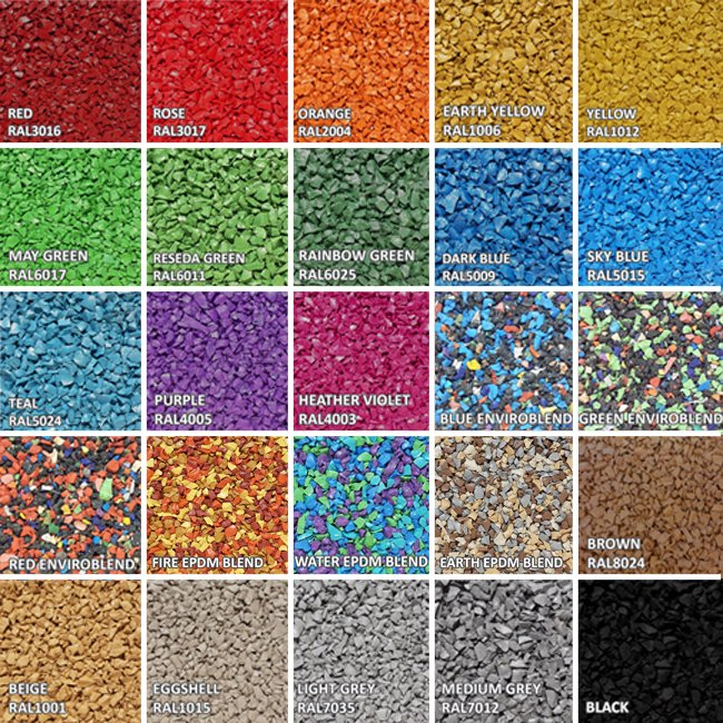 Wetpour Rubber Granules Topping For Playground Surfacing In Various Colours
