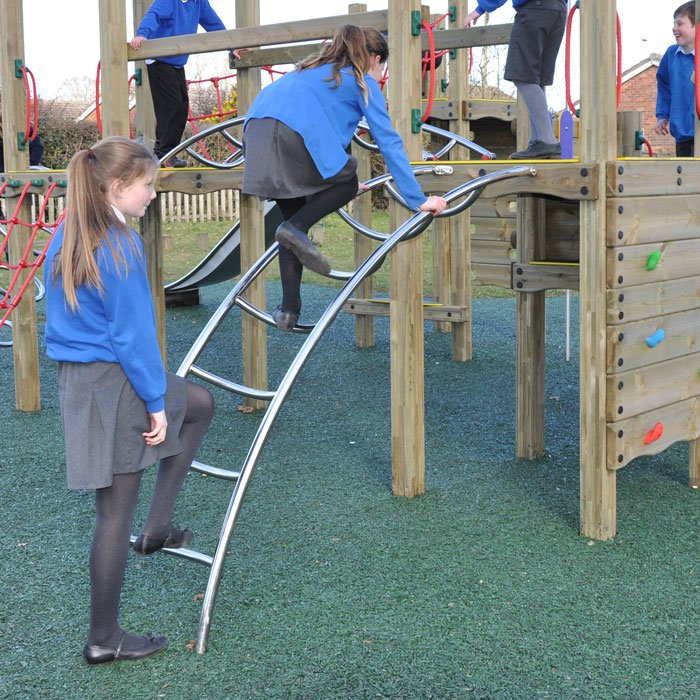 Stainless Steel Access Ladders for Play Towers and Platforms