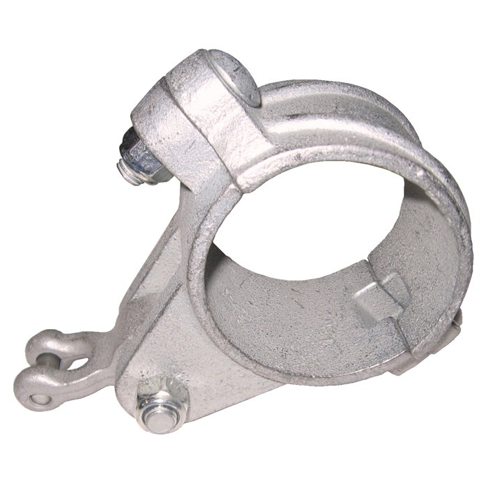 Swing Hanger Clamp For Round Timbers Or Pipes Complete With Cast Swing Pendulum Clevis Bearing And Bolt