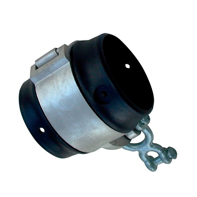 Anti Wrap Swing Hanger Clamp Style With Clevis Chain Shackle For 60mm Diameter Steel Cross Bars
