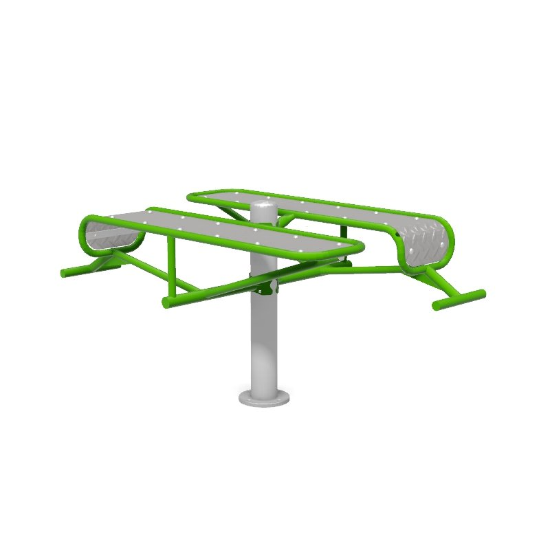 Double Bench Outdoor Gym Fitness Station