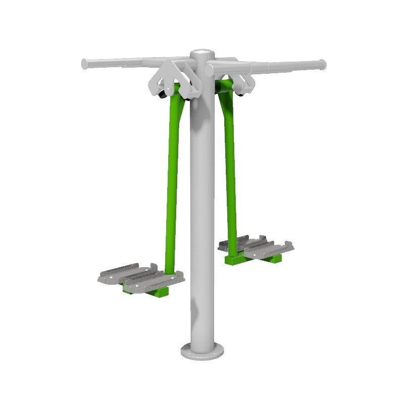 Double Ski Trainer  Outdoor Gym Fitness Station