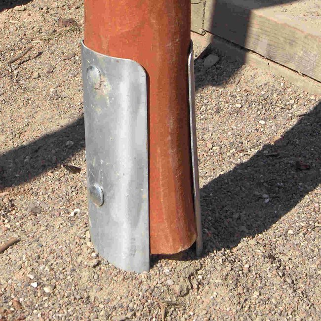 Post Foot Foundation Set For Round Timbers Steel Post