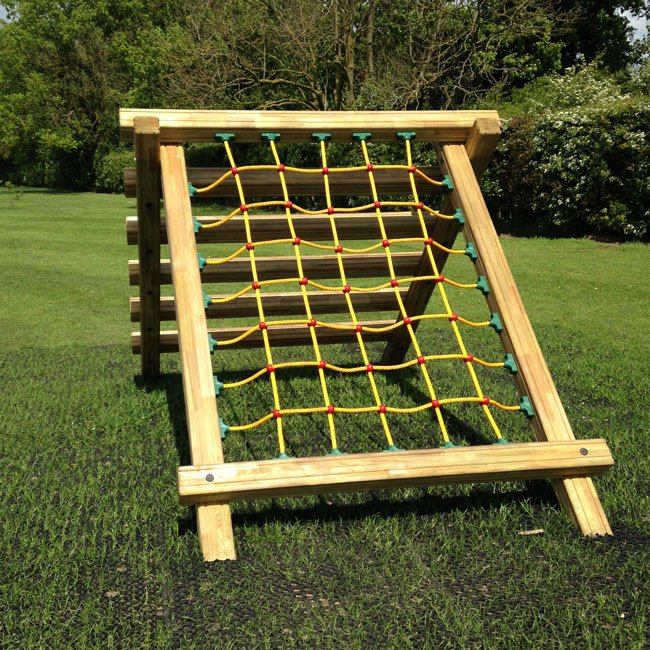 Ladder Net Climb Outdoor Fitness Station In Laminated