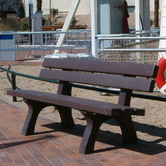 Awe Inspiring Adult Bench Surface Mounted In Recycled Brown Plastic Dereham Ncnpc Chair Design For Home Ncnpcorg