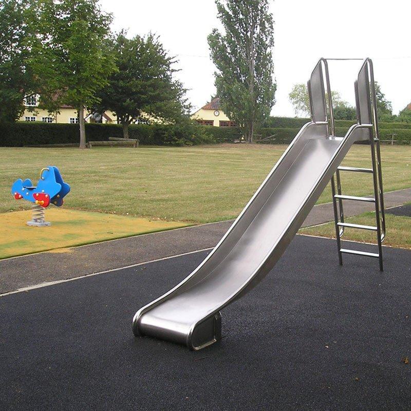 Free Standing Stainless Steel Childrens Playground Slide