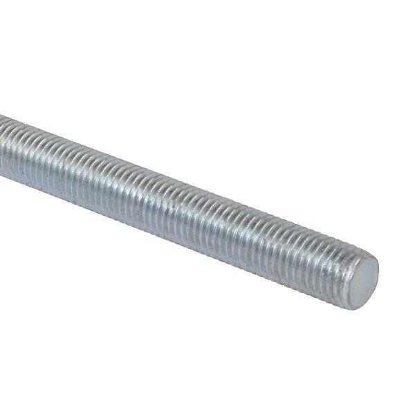1m Length Studding M6 Steel Bright Zinc Plated Threaded