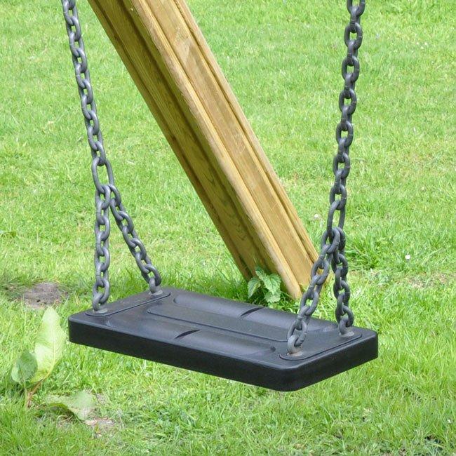 Large Flat Childrens Premium Swing Seat In Black Online