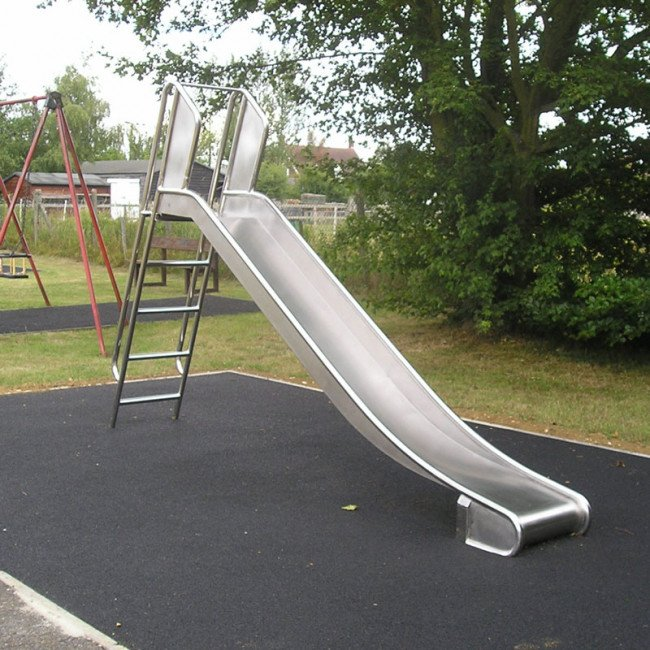 How to make a playground slide faster