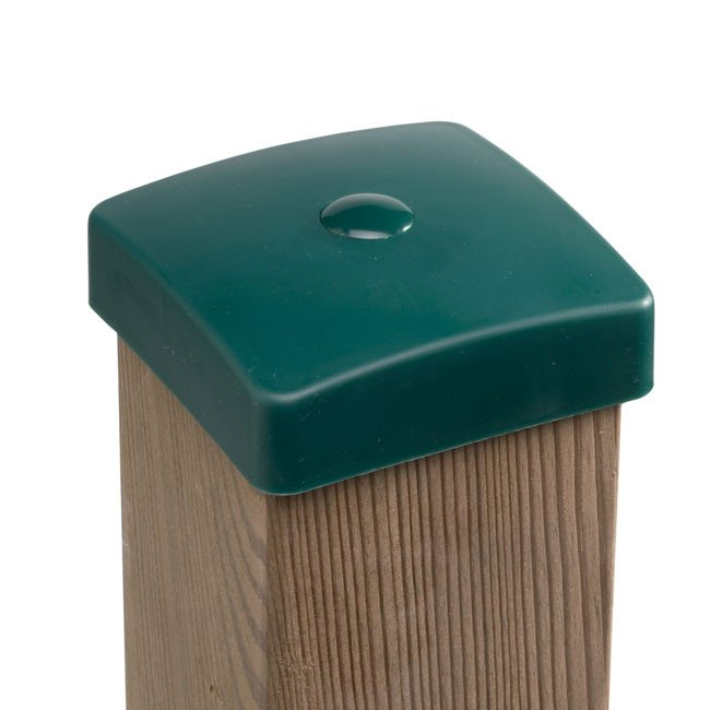 Green Plastic Wooden Post Protection Cover Caps Online