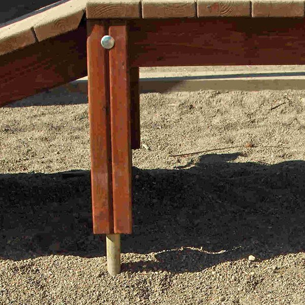Steel Post Foot Insert For Round Or Square Timber Posts
