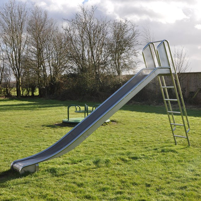 Free standing stainless steel childrens playground slide for Scivolo smoby megagliss 2 in 1