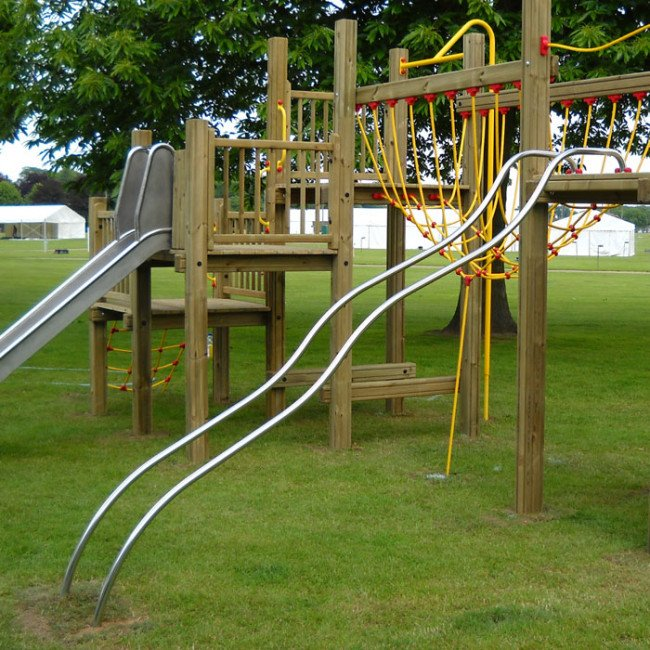 Children S Sliding Poles In Stainless Steel For Play