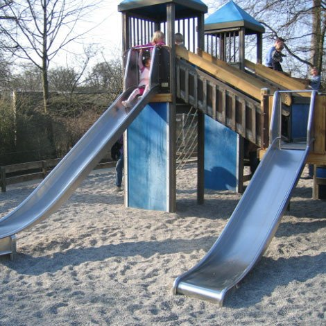 Playground Stainless Steel Platform Slide Safety Wings