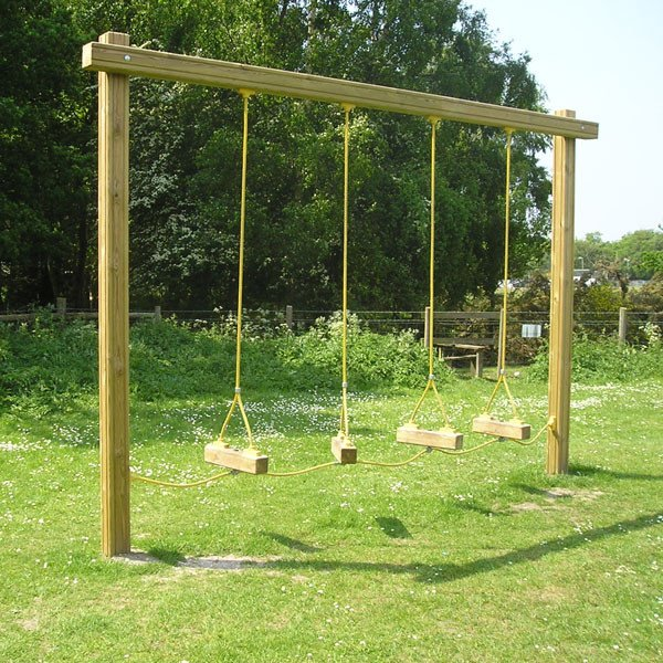 Garden Swings For Adults: 4 Bay Swinging Steps Outdoor Fitness Station