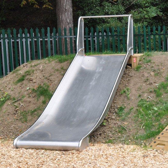 Children S Double Width Stainless Steel Platform Slide