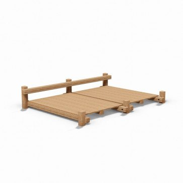 double-bay-platform-sit-up-adult-wooden-fitness-trail-station