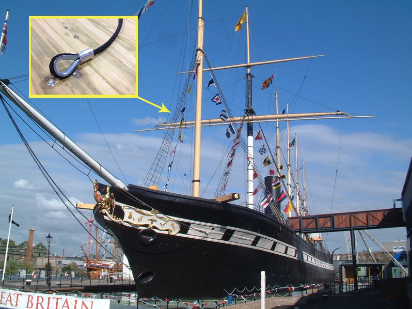 Strop repairs on the SS Great Britain